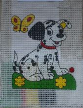 Spot the Dog Beginner's Printed 6 Count Binca  Cross Stitch Kit Available in 2 Colours